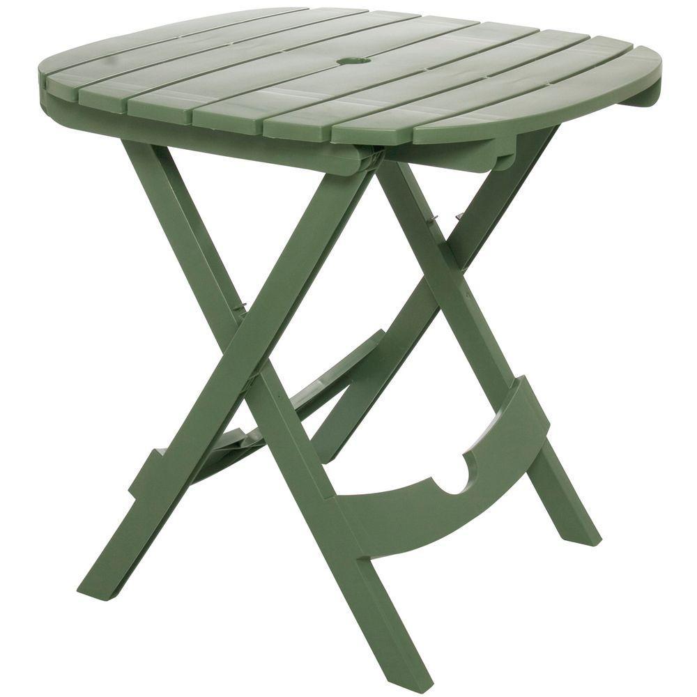 Adams Manufacturing Quik Fold Sage Resin Plastic Outdoor Cafe Table regarding proportions 1000 X 1000