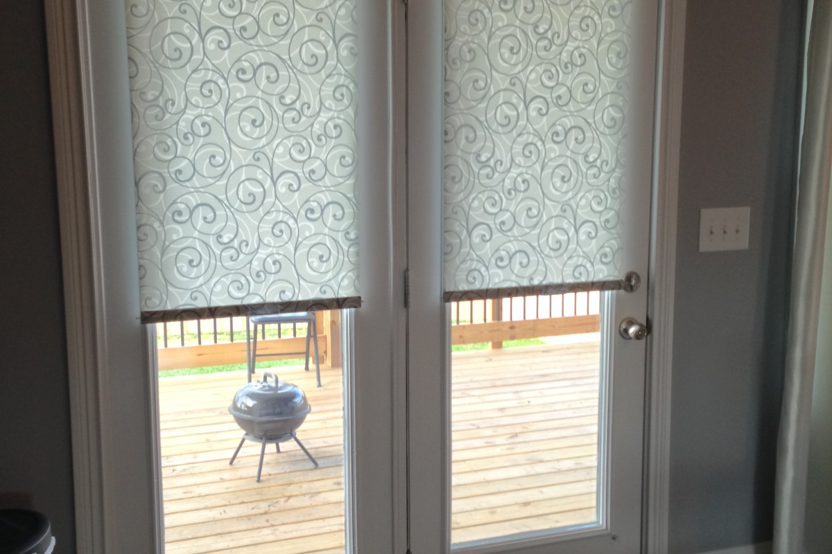 Advantages Of Roller Blinds For French Doors Latest Door Stair inside measurements 1200 X 800