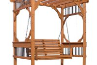 Backyard Discovery 3 Person Wood Patio Pergola Swing In Cedar inside proportions 1000 X 1000