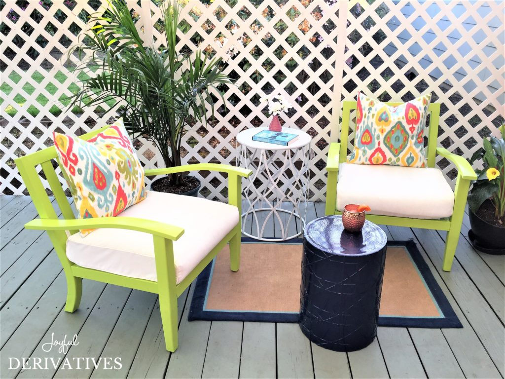 Backyard Makeover Chronicles Patio Furniture Refresh For Under 20 Dimensions 1024 X 768