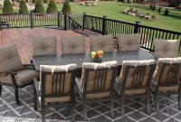 Barbados Cushion Outdoor Patio 11pc Dining Set For 10 Person With intended for proportions 1500 X 939