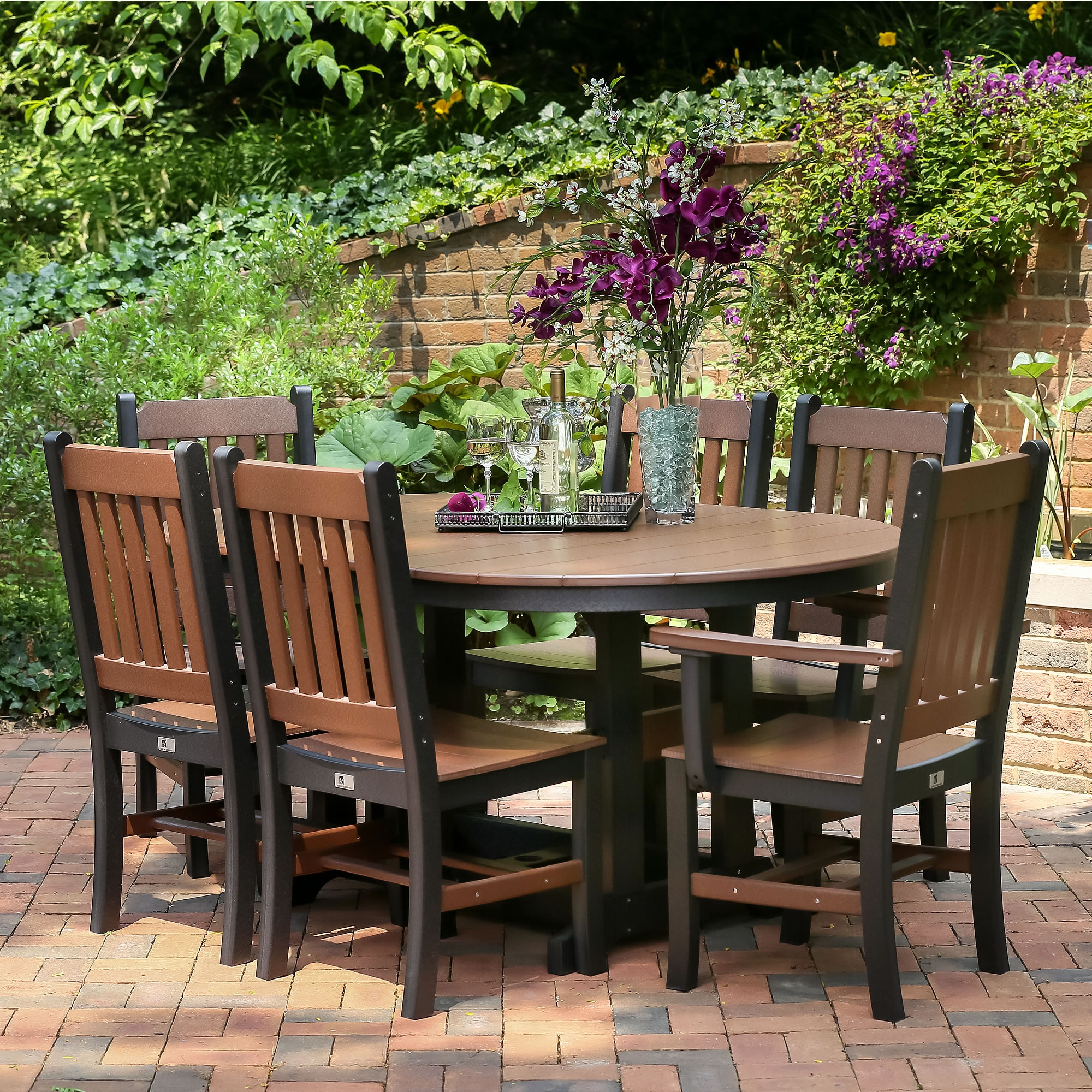 Berlin Gardens Oblong Mission Dining Set Garden Mission Chairs For  Proportions 2000 X 2000
