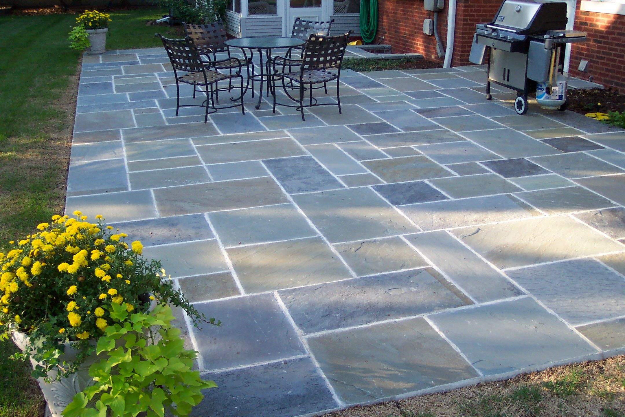 Bluestone Patio Design Stone Patio Designs Front Porchback With Dimensions  2160 X 1440