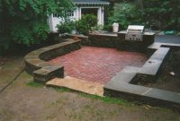 Brick Patio Wall Designs And This Stone Wall And Brick Patio throughout dimensions 1728 X 1188