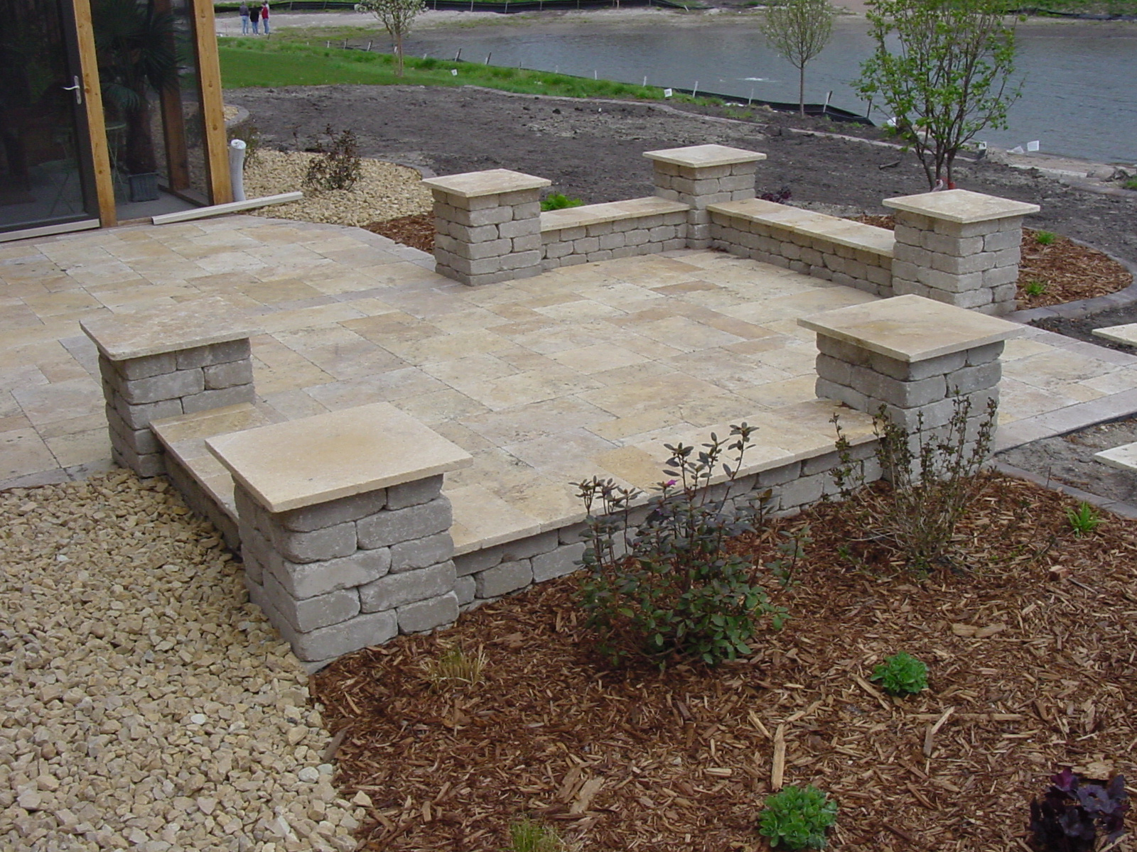 Merveilleux Brick Stone Patio Designs Home Design Ideas For Proportions 1600 X 1200