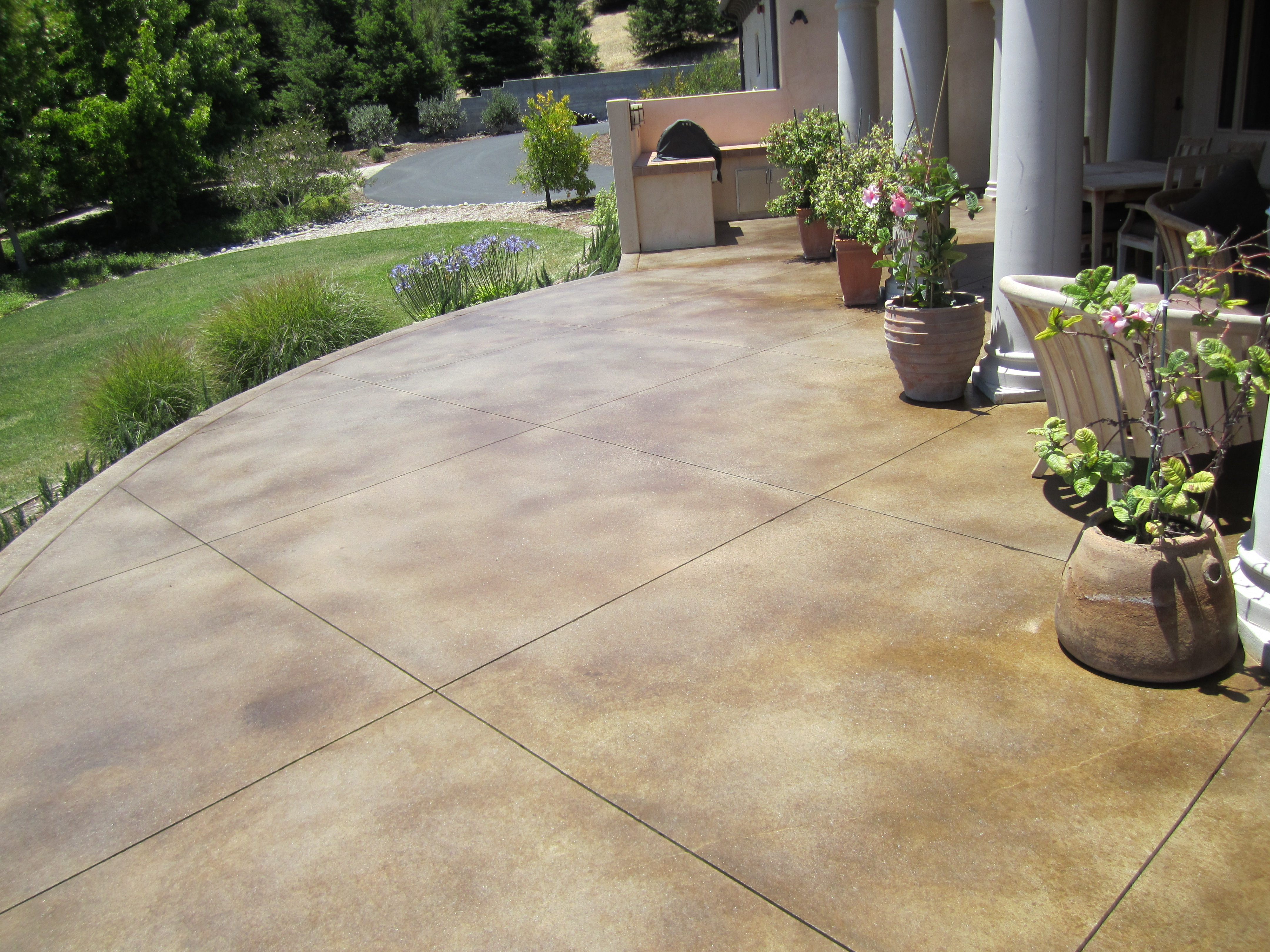 Etonnant Brilliant Concrete Patio Stain 1000 Images About Concrete On Intended For  Measurements 4320 X 3240