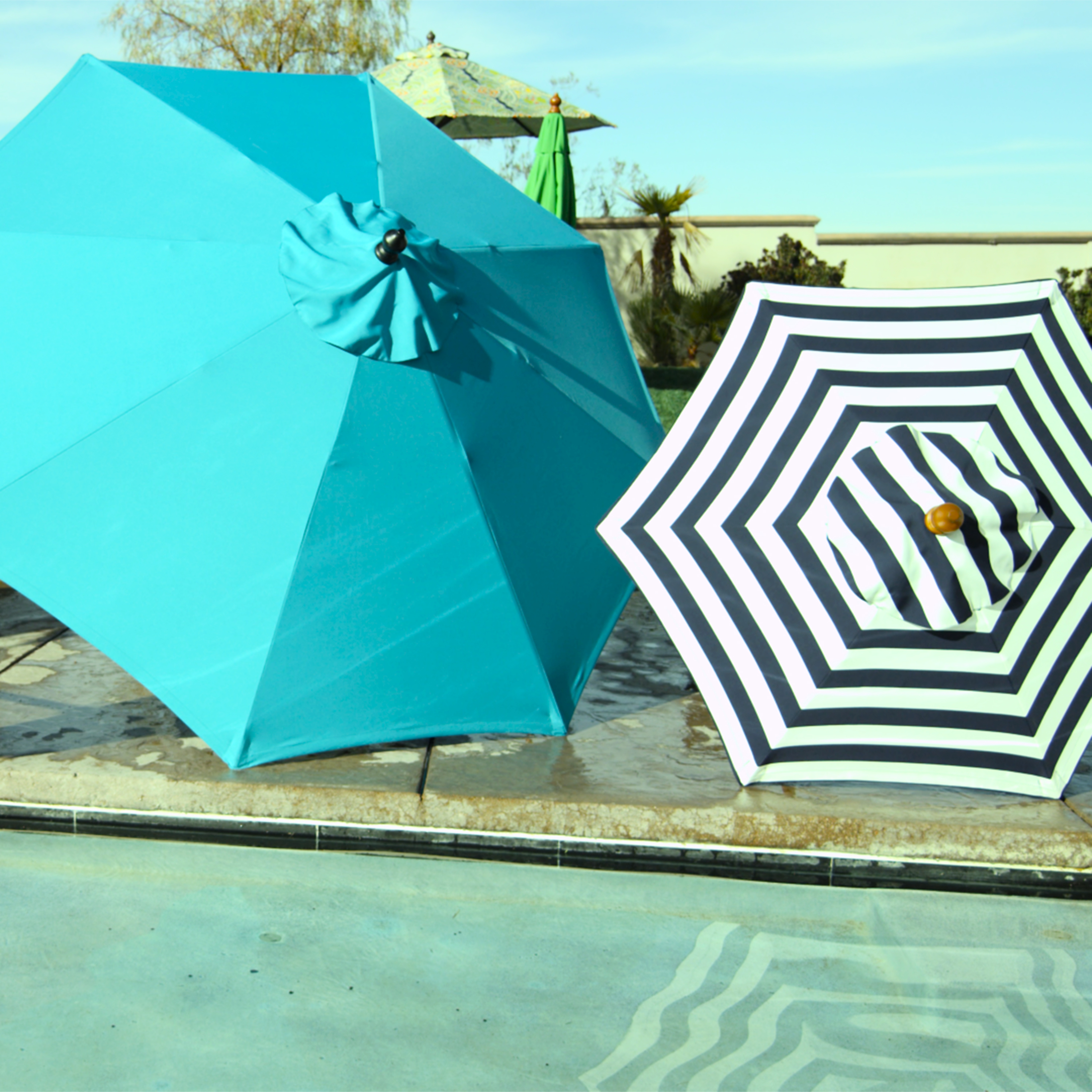 Brown 9 Ft Umbrella Frame And Pole World Market With Regard To Proportions  3000 X 3000