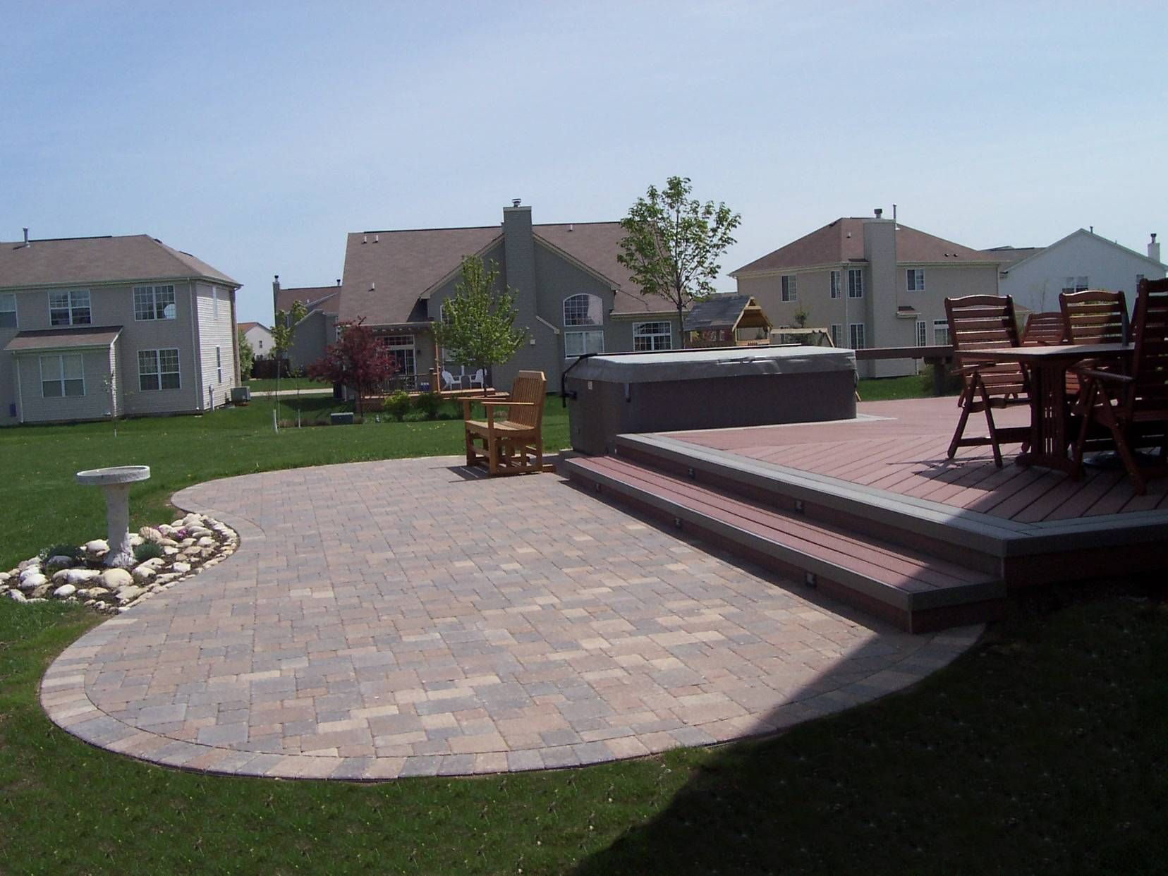 Deck And Paver Patio Designs Mycoffeepot Org