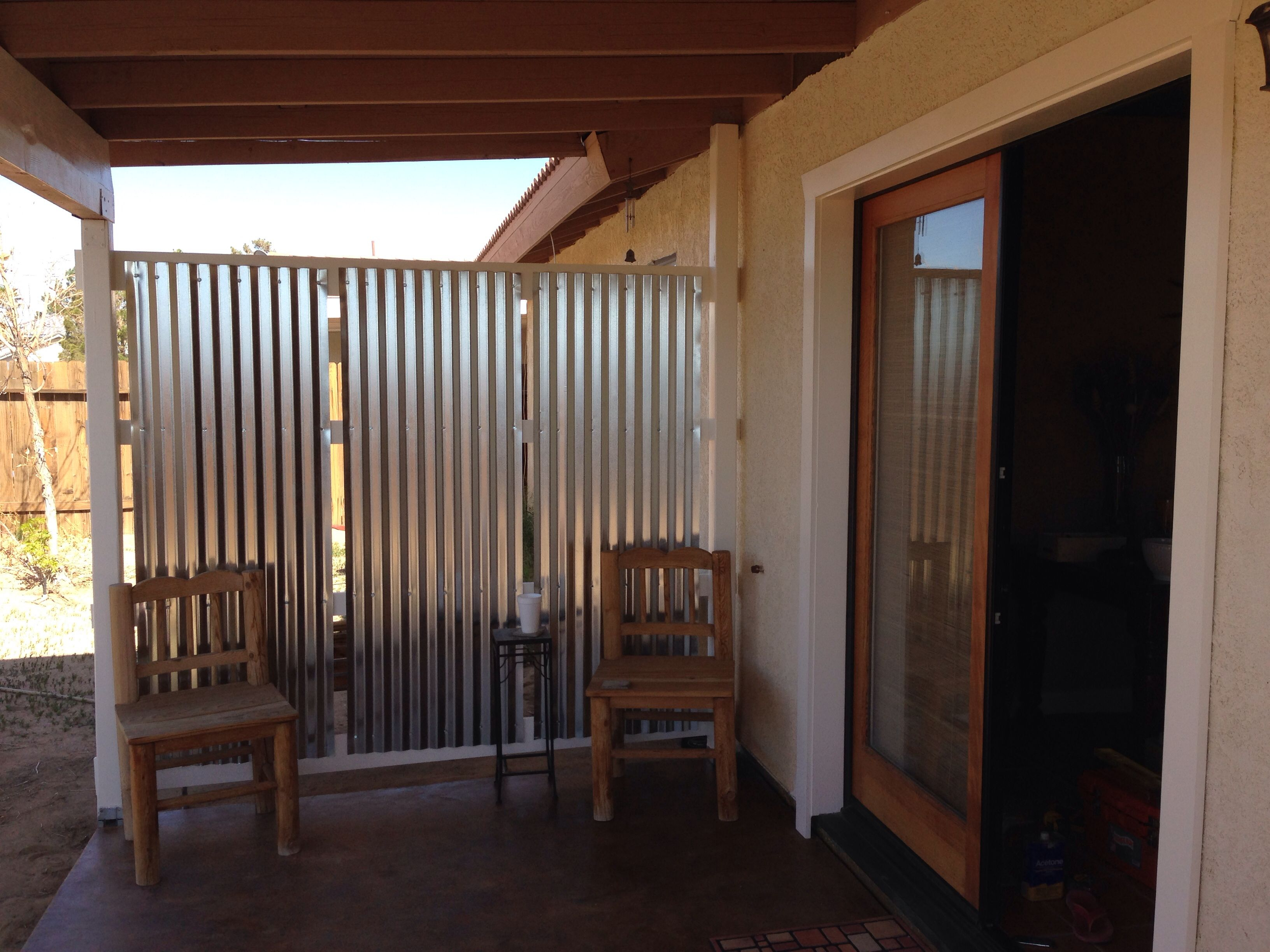 Diy Corrugated Privacy Screen And Wind Break Backyard Outdoor Intended For  Measurements 3264 X 2448