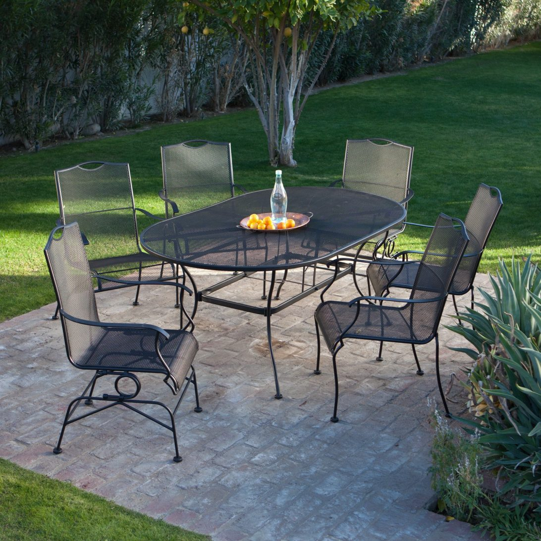 Hamlake Wrought Iron Rectangular Patio Dining Table Patio Ideas - Small rectangular patio dining table