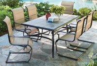 Hampton Bay Belleville 7 Piece Padded Sling Outdoor Dining Set within dimensions 1000 X 1000