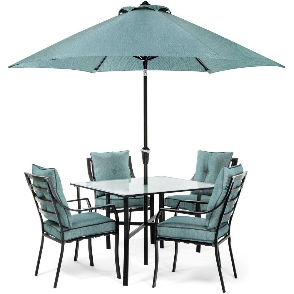 Hanover Lavallette Black Steel 5 Piece Outdoor Dining Set With Intended For Dimensions 1000 X