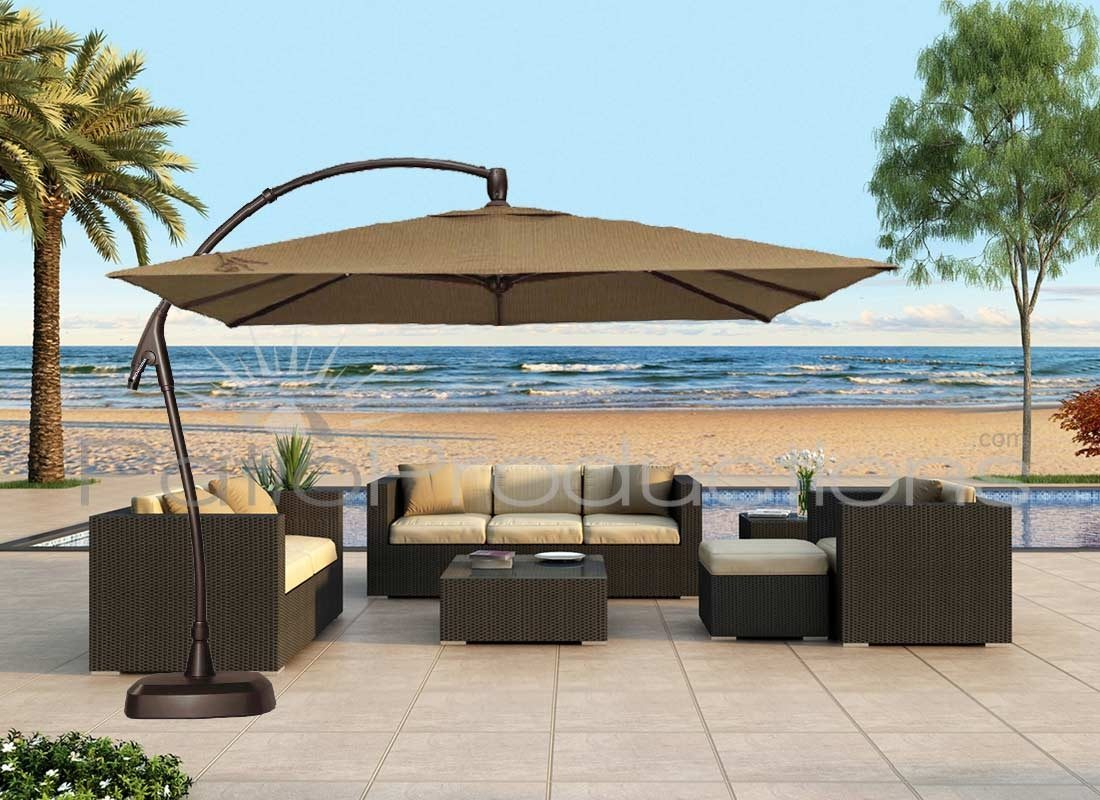 Superbe Lovable Patio Table Umbrellas Patio Ideas Large Cantilever Patio Pertaining  To Proportions 1100 X 800
