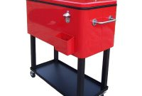 Oakland Living 80 Qt Steel Red Patio Cooler Cart 90010 Rd The within measurements 1000 X 1000