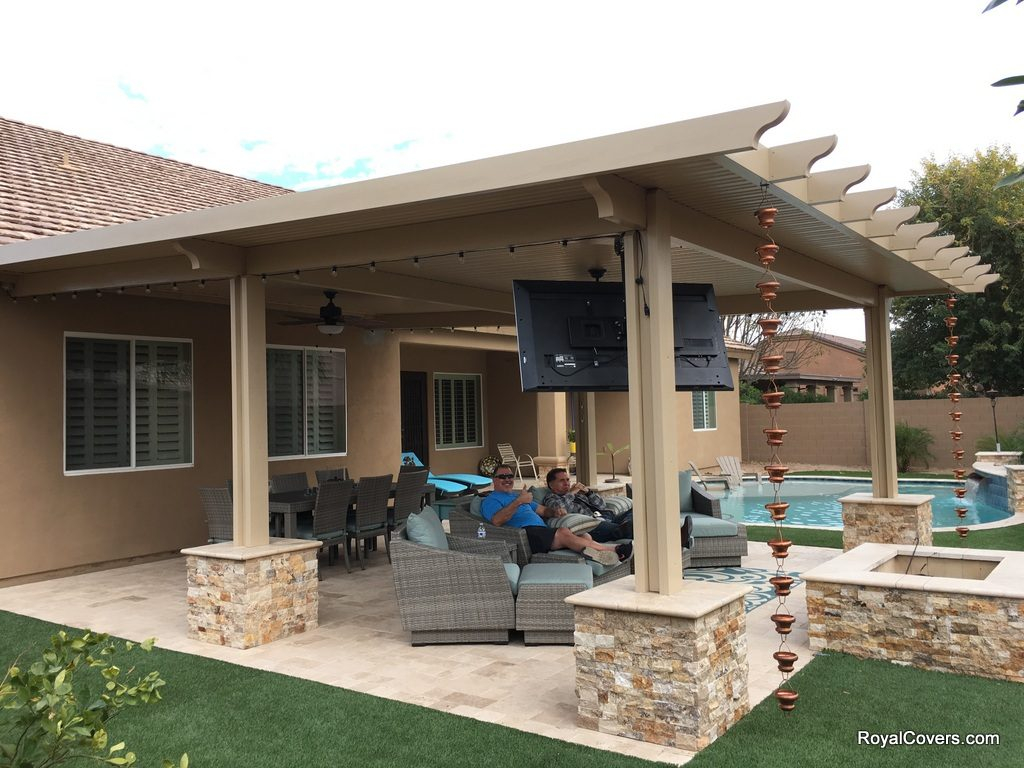 Tv For Outside Covered Patio • Patio Ideas on Patio Cover Ideas id=36602