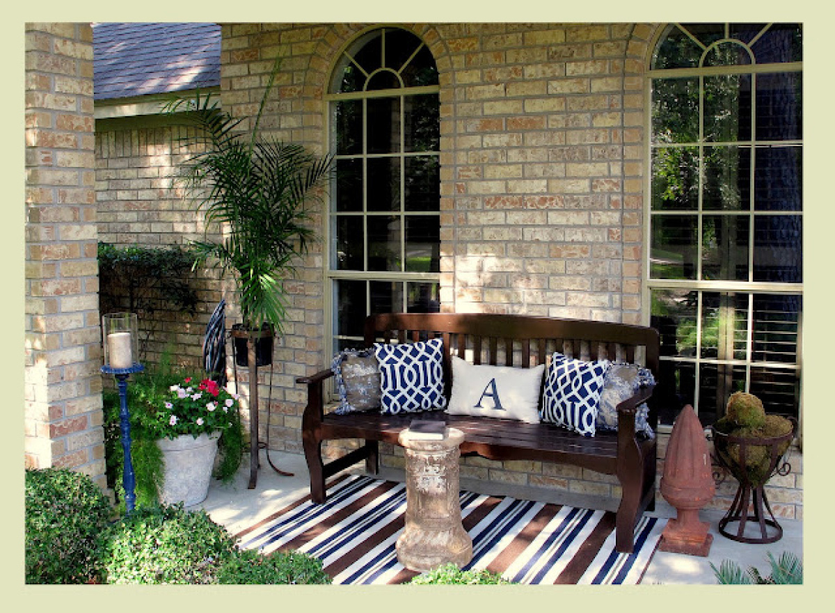 Merveilleux Outdoor Decor 14 Casual Comfy Front Porch Ideas Huffpost Intended For  Proportions 1200 X 881