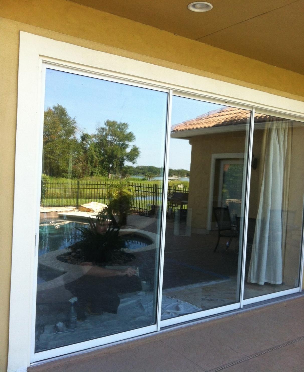 Bon Outdoor Sliding Glass Door Window Tint Sliding Doors For Patio Within Size  1213 X 1484