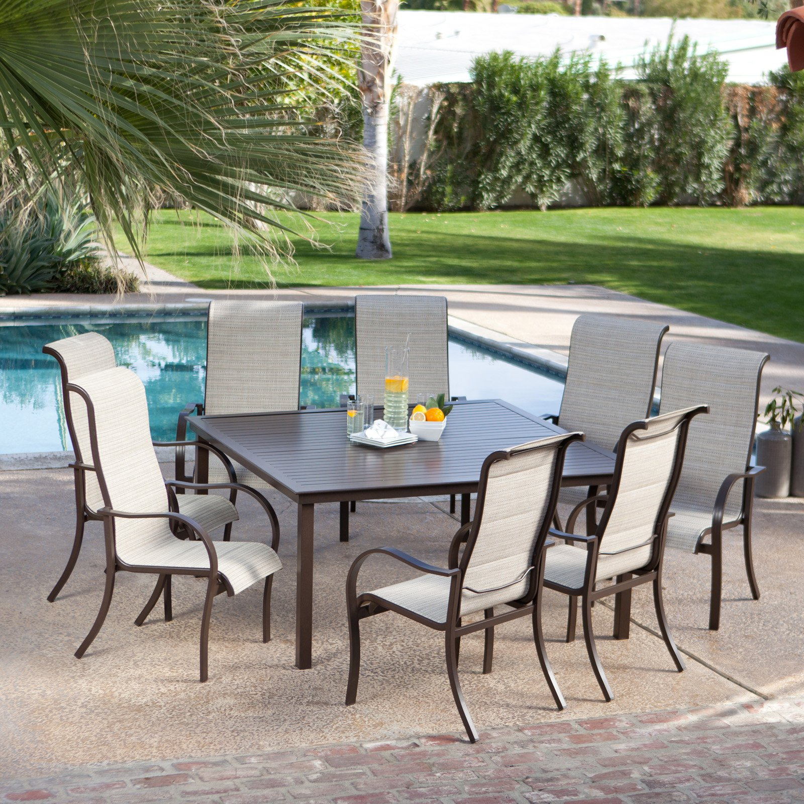 Square Seat Patio Table Patio Ideas - High square dining table for 8
