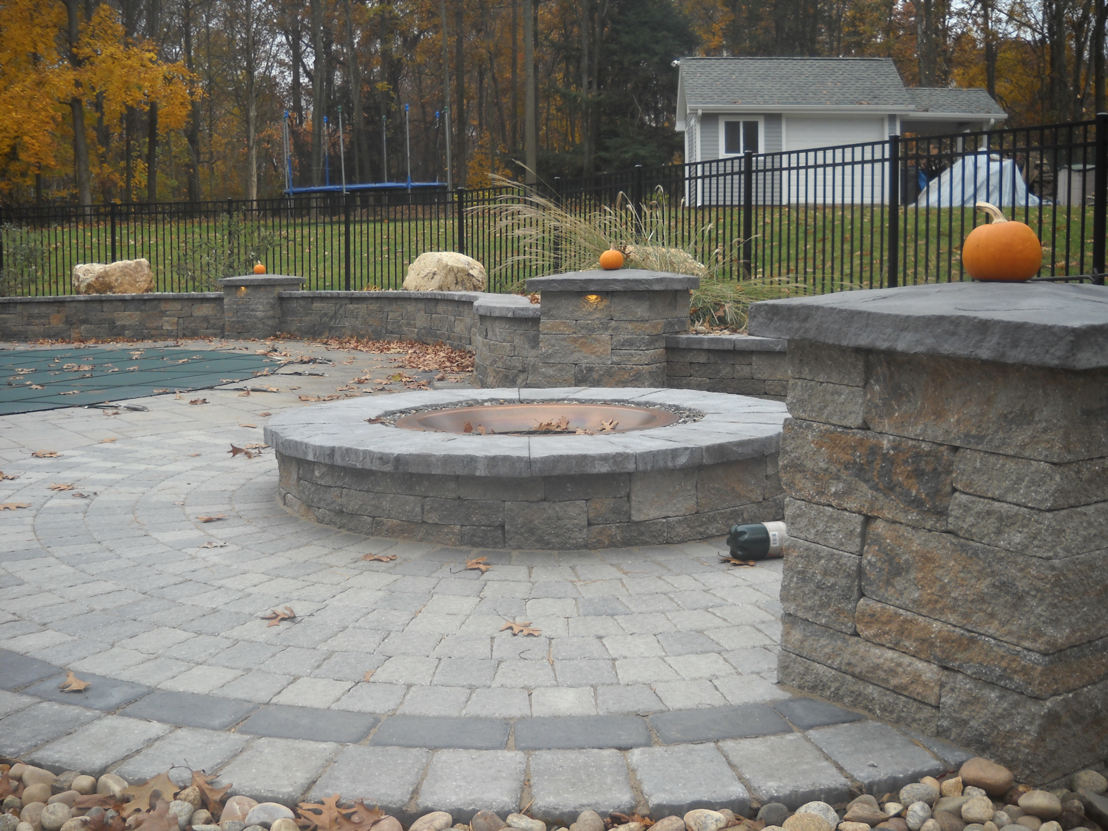 Outdoor Uncategorized Backyard Stone Patio Designs In Greatest with measurements 3575 X 2681