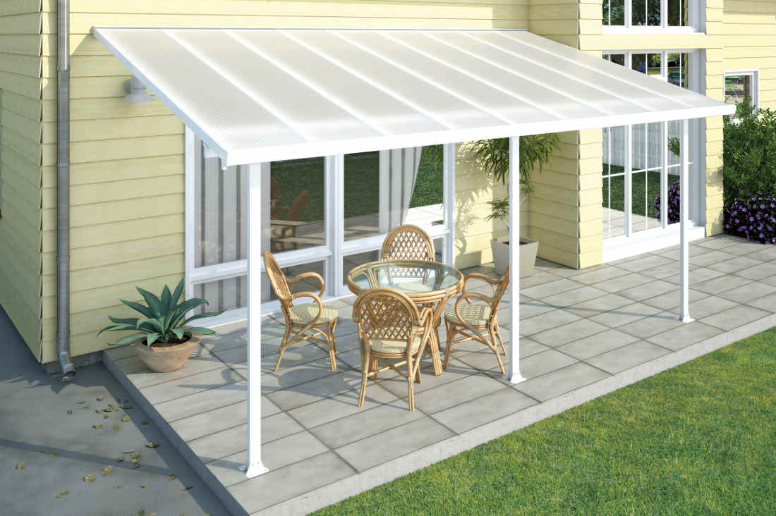 Palram Feria 10x20 Patio Cover White Hg9320 Free Shipping with dimensions 1100 X 732