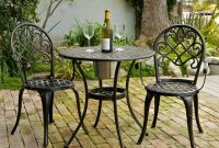 Patio Furniture Under 200 3 Piece Set Antique Black Metal Outdoor within dimensions 1024 X 1024