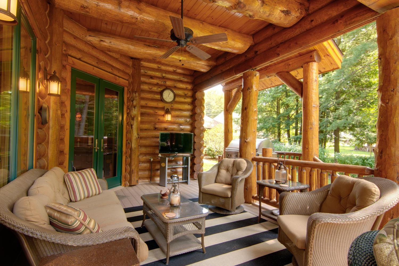 Log Home Patio Designs Patio Ideas
