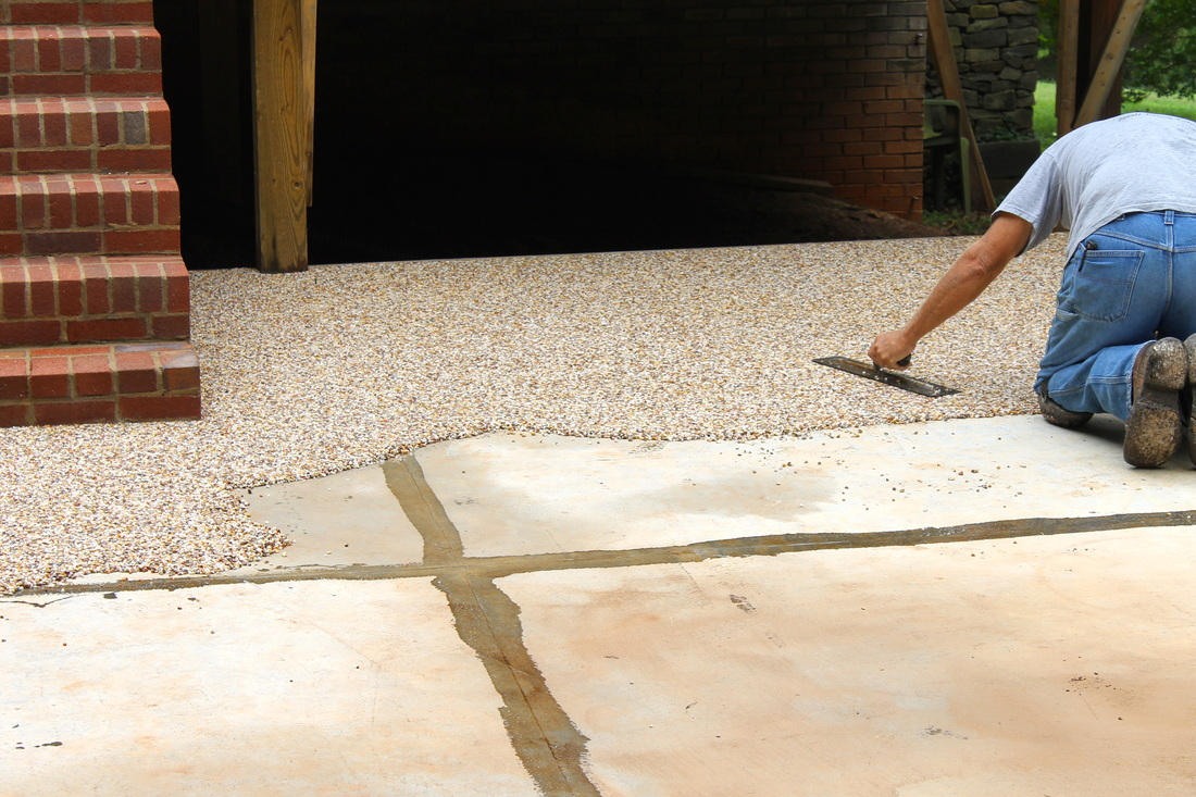 Superieur Pea Gravel And Epoxy Patio Icamblog Epoxy Pea Gravel Patio Outdoor In  Sizing 1100 X 733
