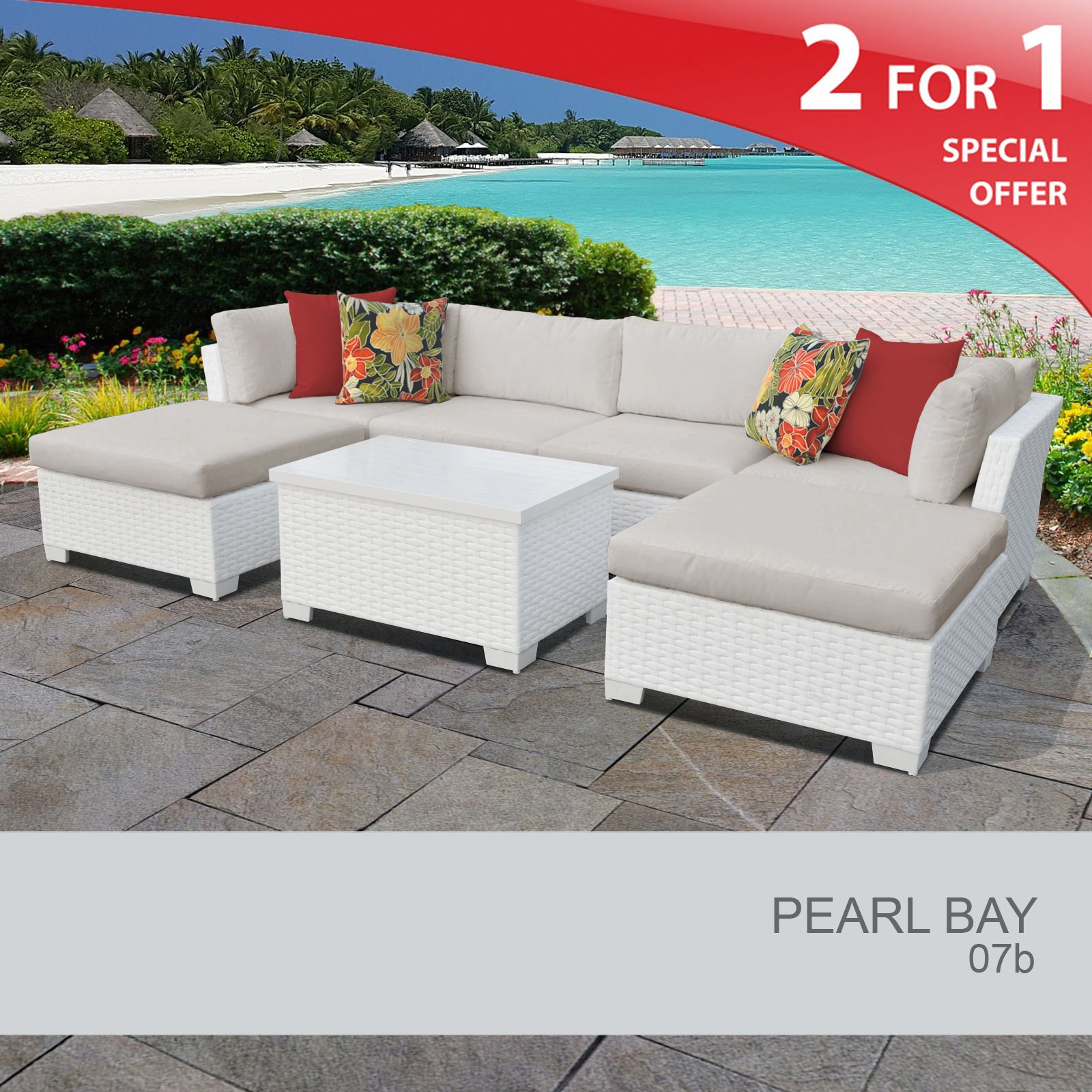 Pearl Bay 7 Piece Outdoor Wicker Patio Furniture Set 07b Design inside sizing 1600 X 1600