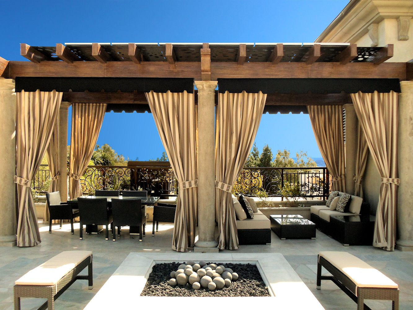 Pergola Design Ideas Outdoor Curtains For Patio D 5 With Regard To Sizing 1333 X