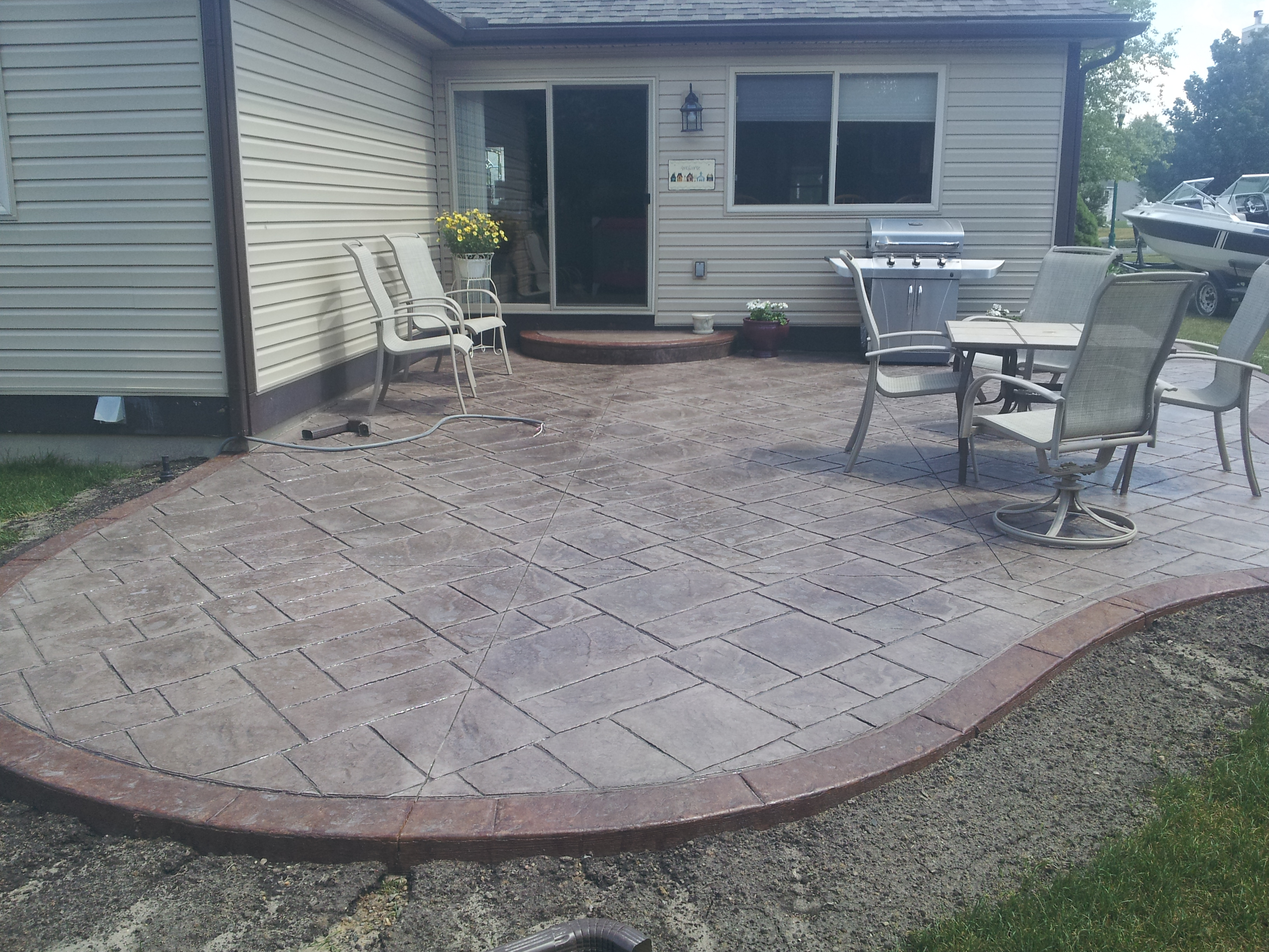Raised Concrete Patio Inspirational Patio Decoration Stamped Intended For  Measurements 3264 X 2448