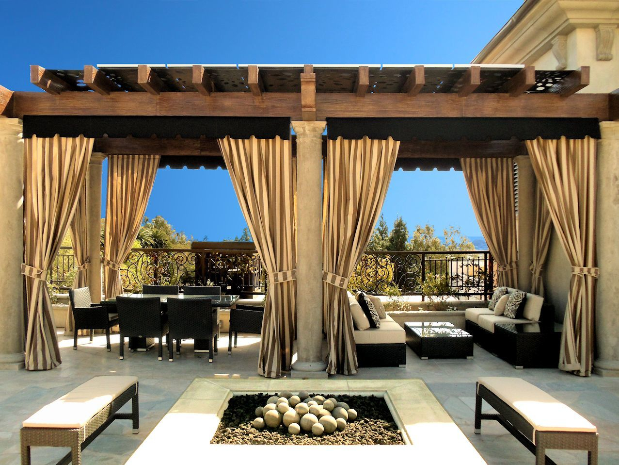 Relaxed Waterproof Outdoor Curtains Best Design Dma Homes 57873 In Sizing 1277 X 958
