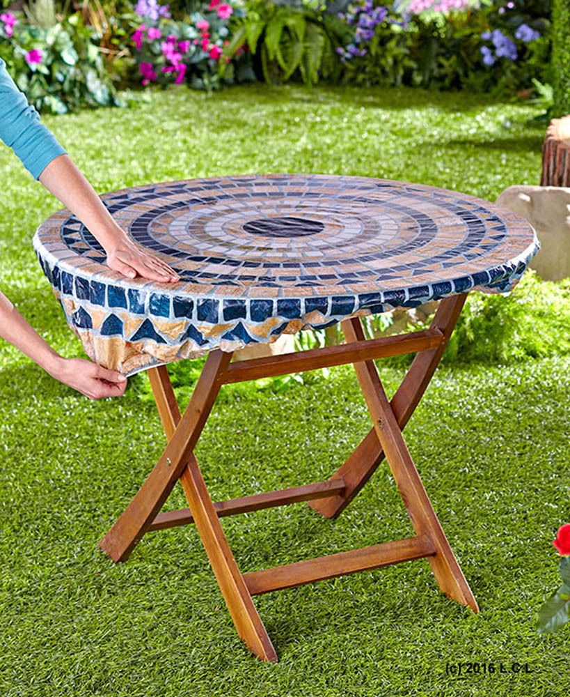 Round Patio Tablecloth With Zipper Patio Ideas