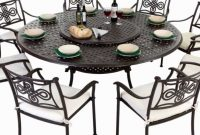 Round 8 Seater Cast Aluminium Garden Furniture Set With Seat Pads throughout measurements 1280 X 720
