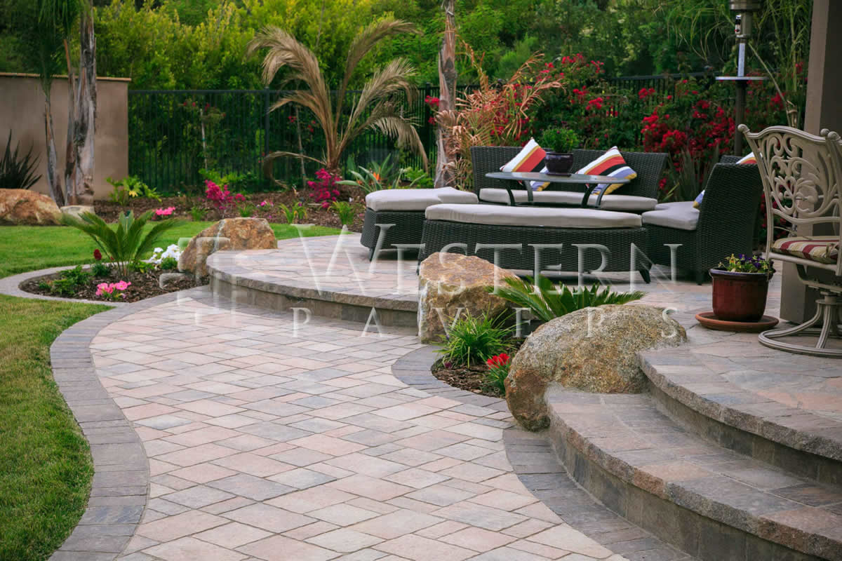 San Go Pavers Raised And Sunken Patio Gallery Western Intended For Proportions 1200 X 800