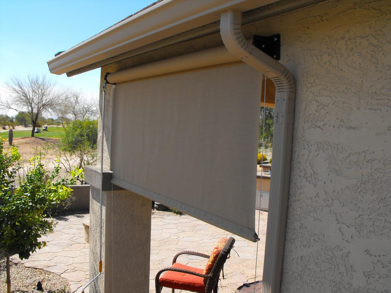 Delicieux Shades Awesome Roll Down Patio Shades Coolaroo Outdoor Shades Pertaining To  Size 1280 X 960