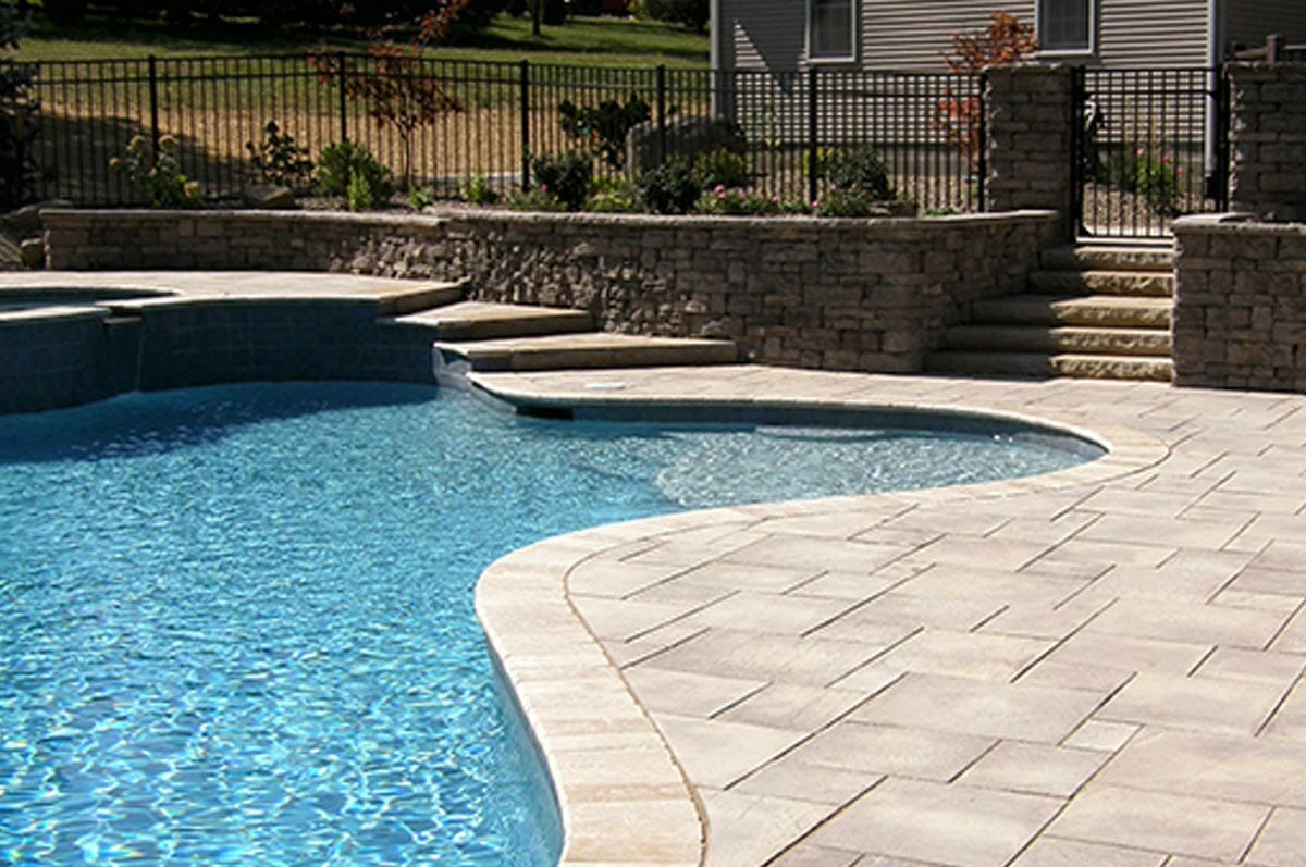 Swimming Pool Patio Design Ideas And Supplies For Pa Md And De For Size  1200 X