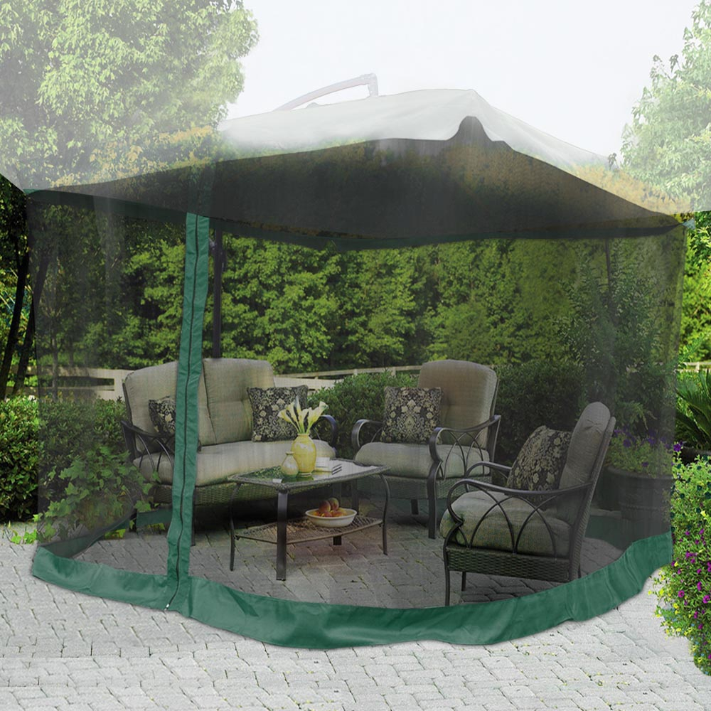 Yescom 9ft Umbrella Mosquito Net Outdoor Patio Mesh Screen Anti with regard to measurements 1000 X 1000