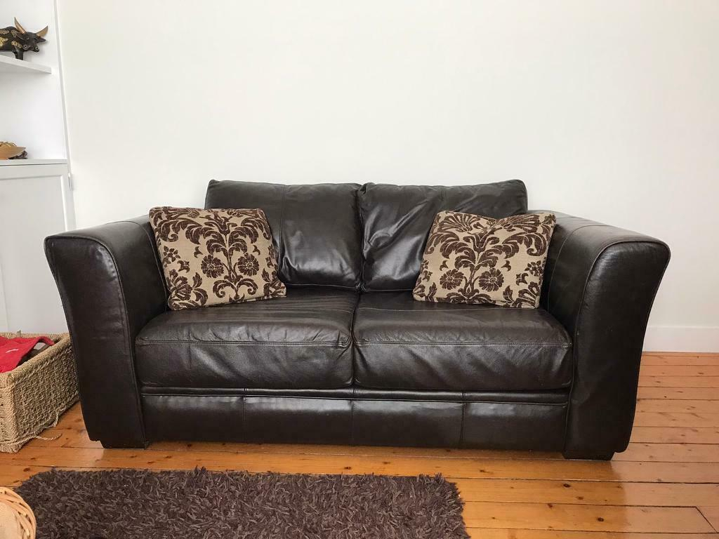 23 Seater Brown Faux Leather Sofa In Southside Glasgow Gumtree for proportions 1024 X 768