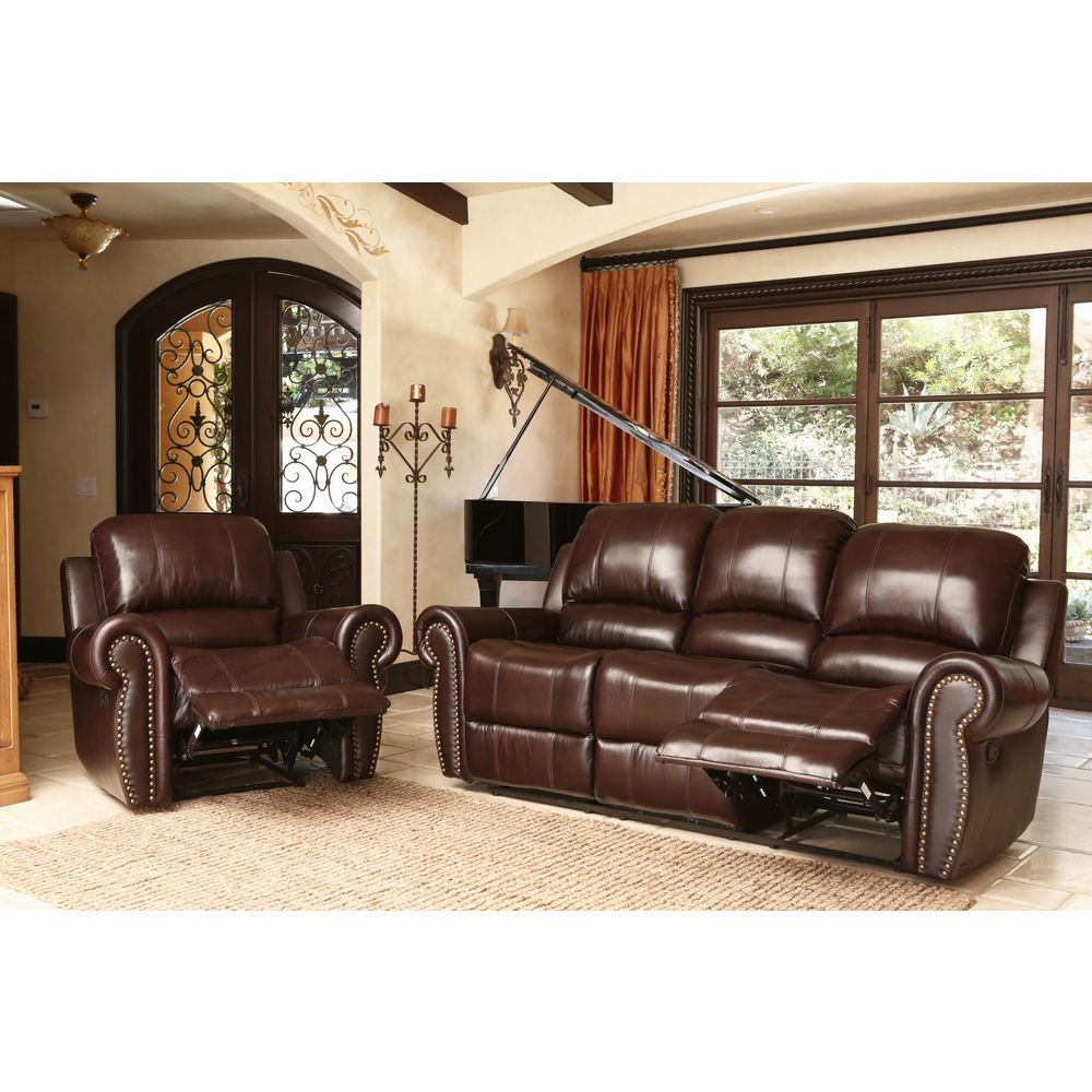 Abson Living Broadway Premium Top Grain Leather Reclining with regard to size 1000 X 1000