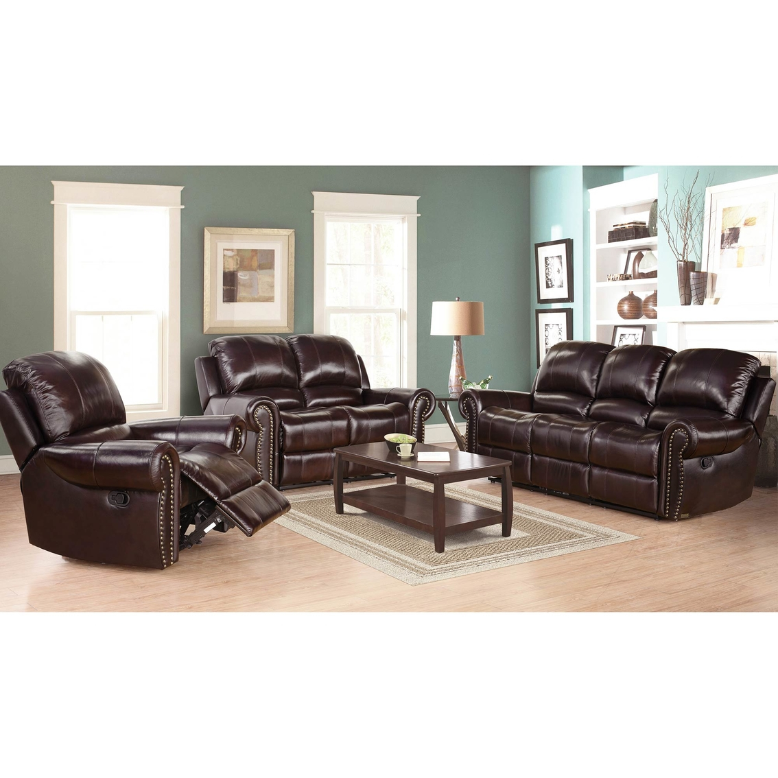 Abson Living Broadway Reclining 3 Pc Set Sofas for proportions 1134 X 1134