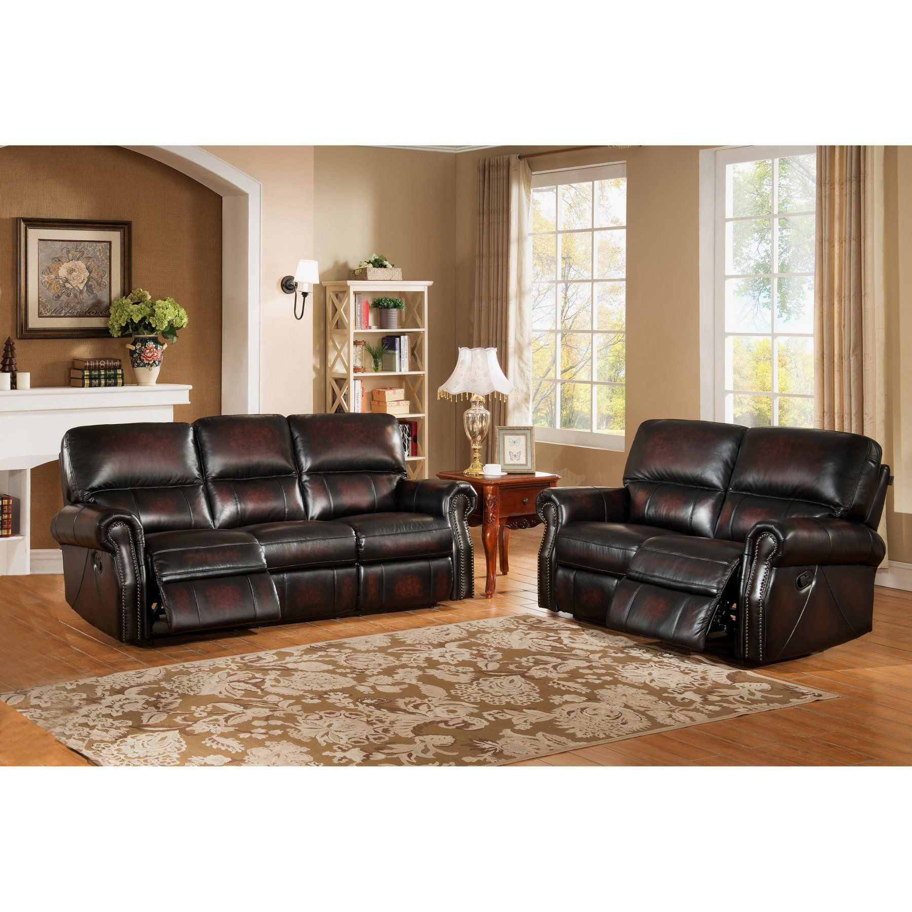 Leather Sofa Set Living Room Furniture Brooklyn • Patio Ideas