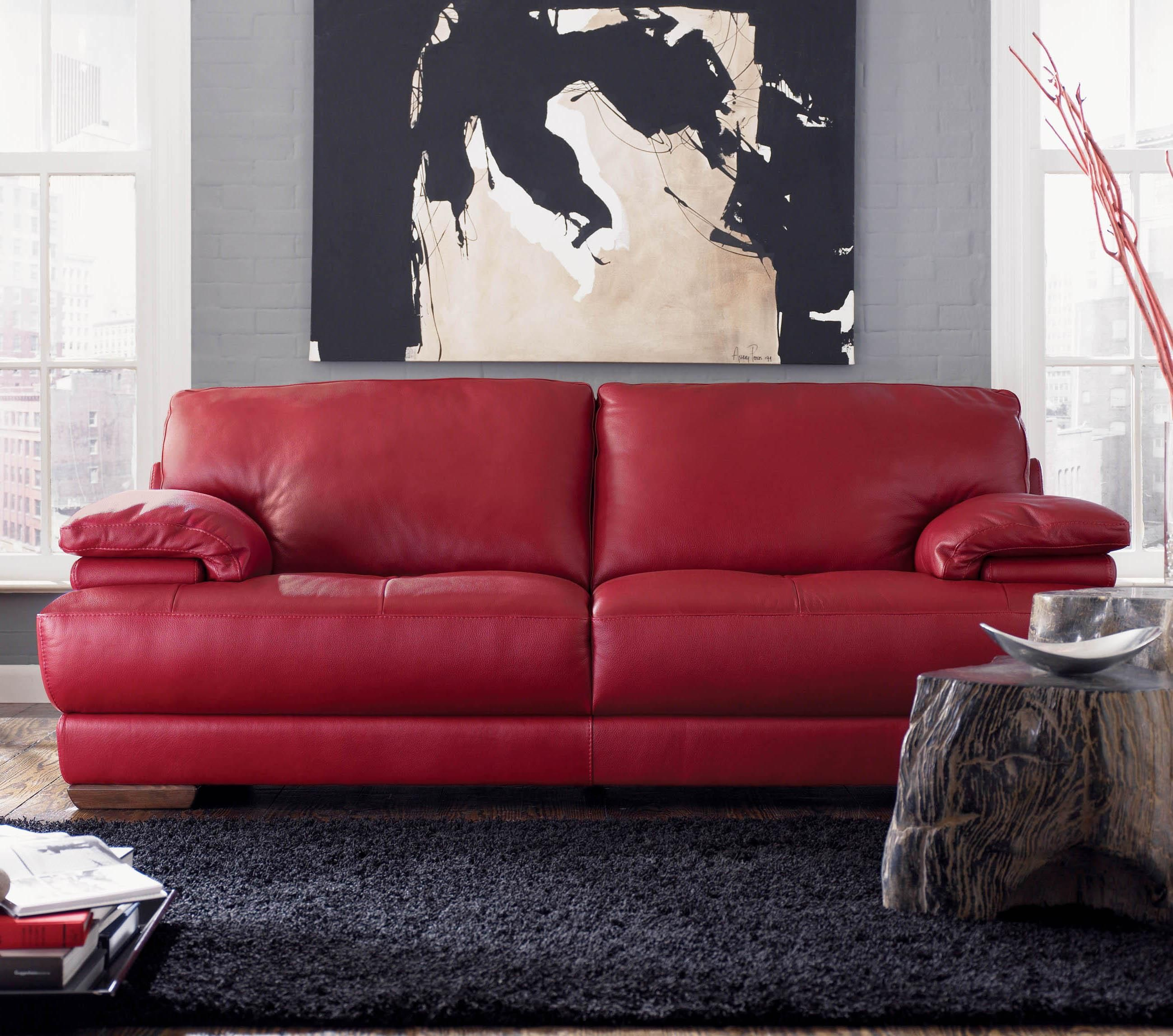 B504 Leather Sofa Natuzzi Editions Family Room throughout size 2598 X 2296