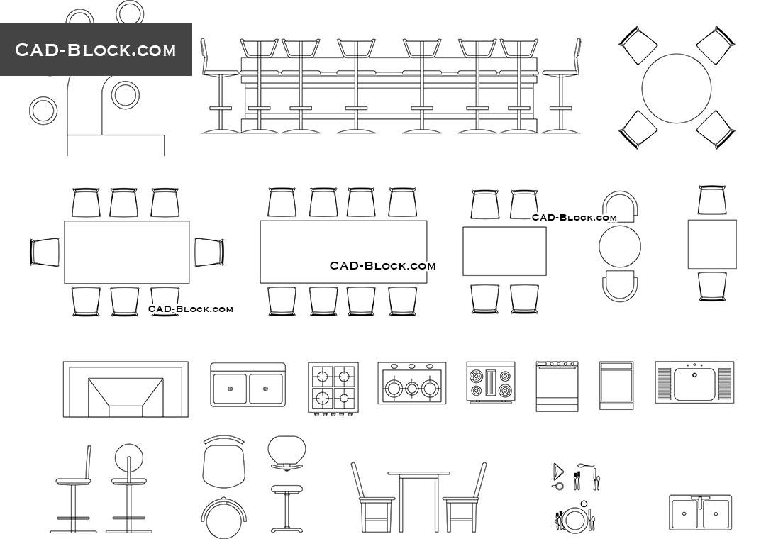 Bar Furniture Cad Blocks Download intended for size 1080 X 760