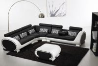 Blossom Corner Black And White Leather Sofa Suite For More pertaining to dimensions 5436 X 3752