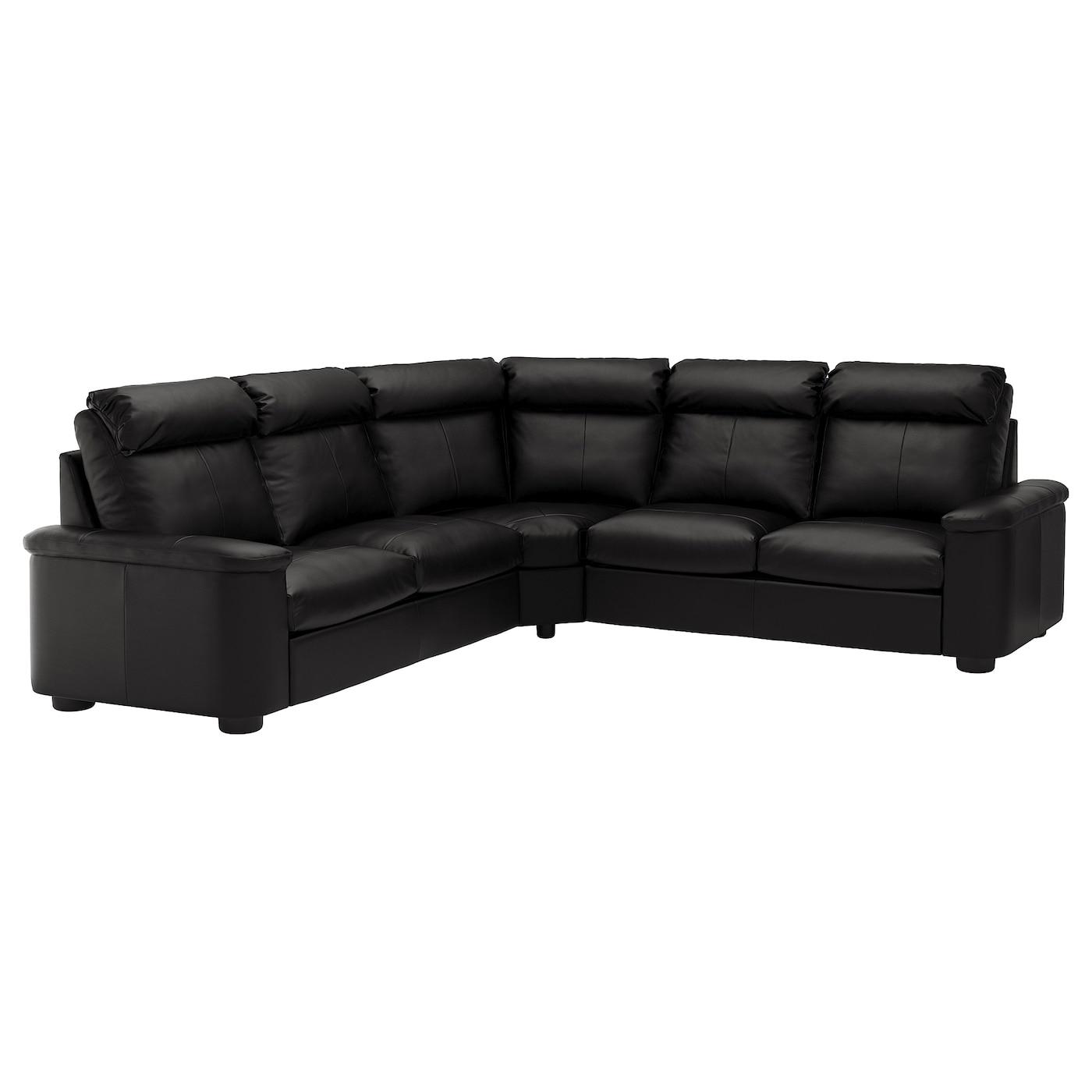 Corner Sofa Bed 5 Seat Lidhult Grannbomstad Black in dimensions 1400 X 1400