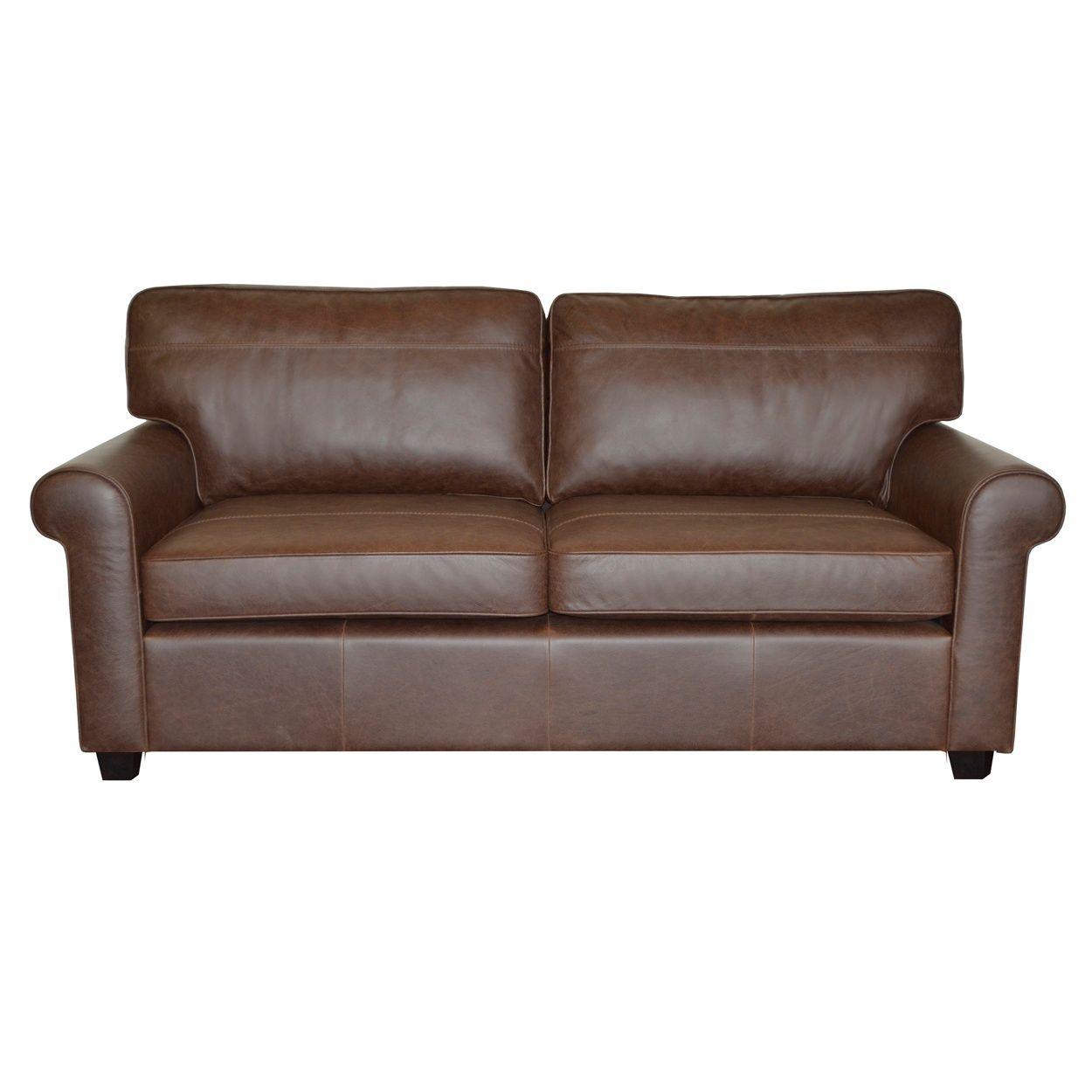 Debenhams Brown Oban Buffalo Leather Medium Sofa With Dark inside measurements 1250 X 1250
