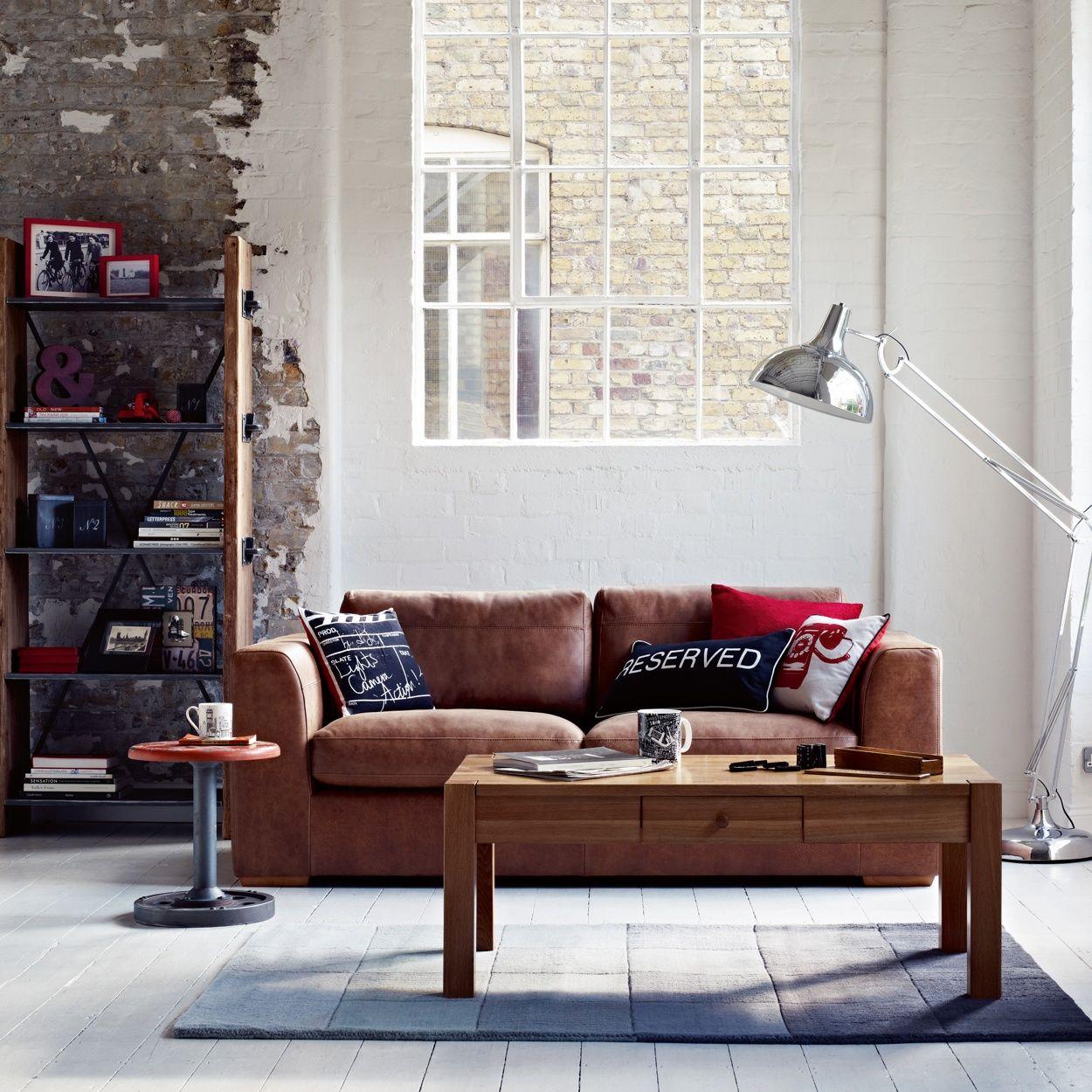 Debenhams Tan Leather Paris Large Sofa At Debenhams within dimensions 1250 X 1250