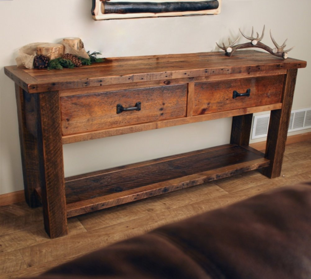 Decorating Rustic Sofa Table House Of All Furniture pertaining to dimensions 1001 X 898