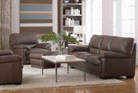Denver Leather Sofa Dark Taupe Leather Sofa Set Leather regarding sizing 2450 X 1749
