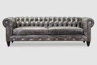 Distressed Gray Leather Chesterfield Sofas Armchairs within size 800 X 1200